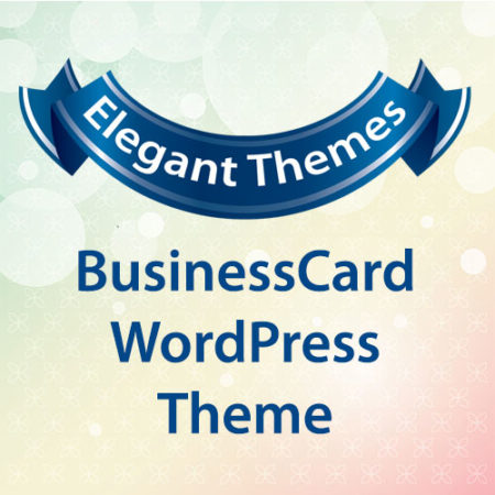 Elegant Themes BusinessCard WordPress Theme