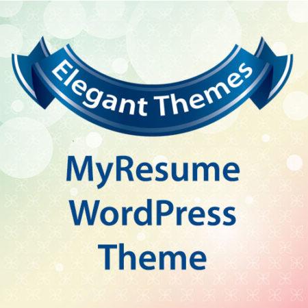 Elegant Themes MyResume WordPress Theme