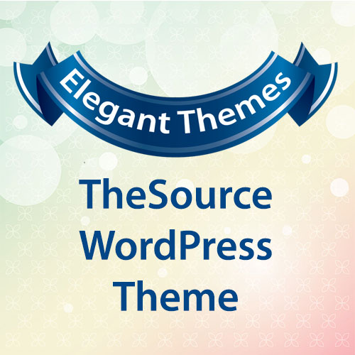 Elegant Themes TheSource WordPress Theme