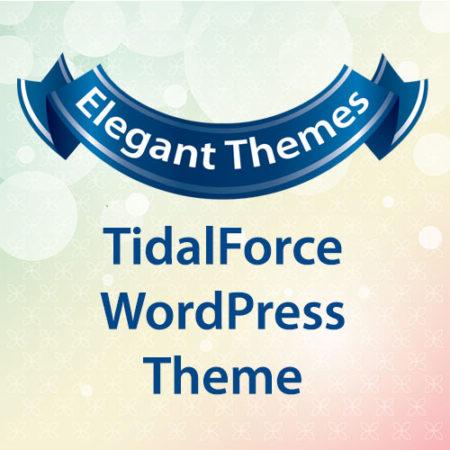 Elegant Themes TidalForce WordPress Theme