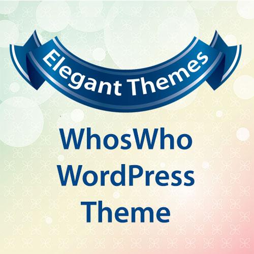 Elegant Themes WhosWho WordPress Theme