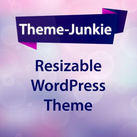 Resizable WordPress Theme