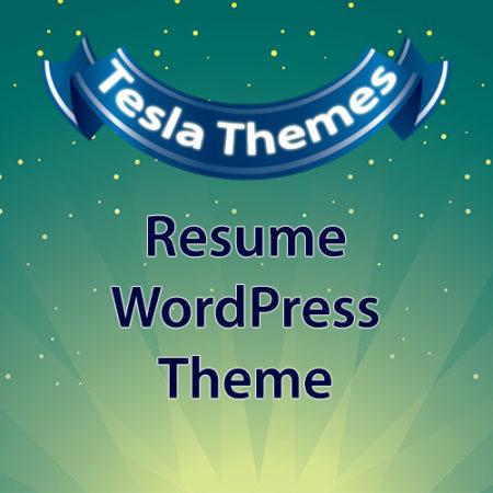 Tesla Themes Resume WordPress Theme