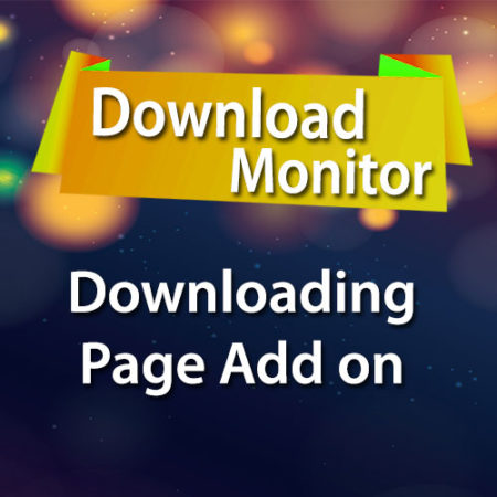 Download Monitor Downloading Page Add on