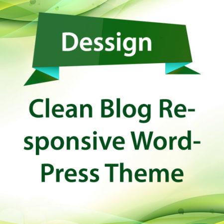 Dessign Clean Blog Responsive WordPress Theme