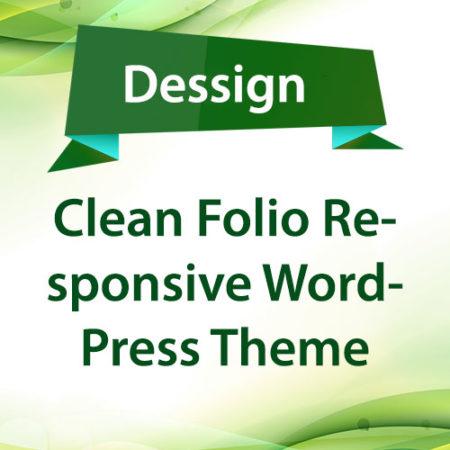 Dessign Clean Folio Responsive WordPress Theme