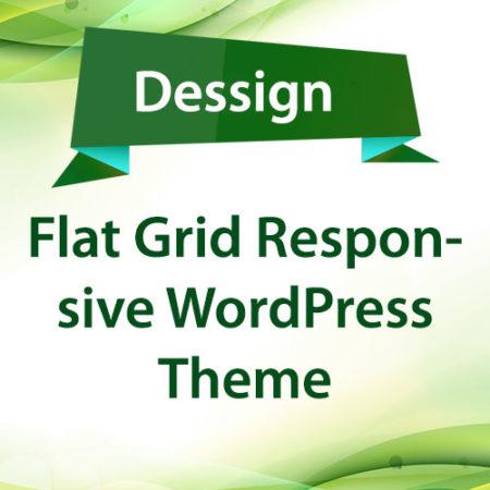 Dessign Flat Grid Responsive WordPress Theme