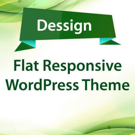 Dessign Flat Responsive WordPress Theme
