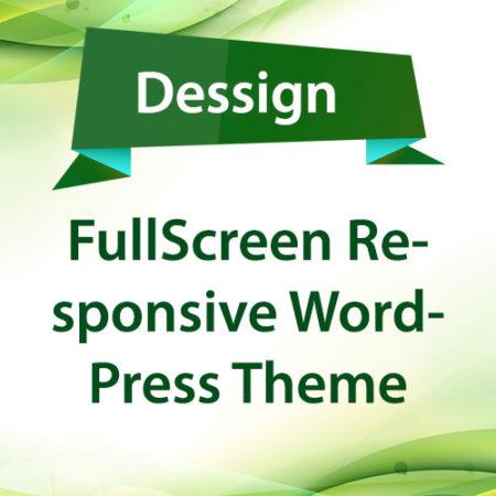 Dessign FullScreen Responsive WordPress Theme