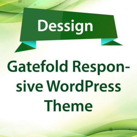 Dessign Gatefold Responsive WordPress Theme
