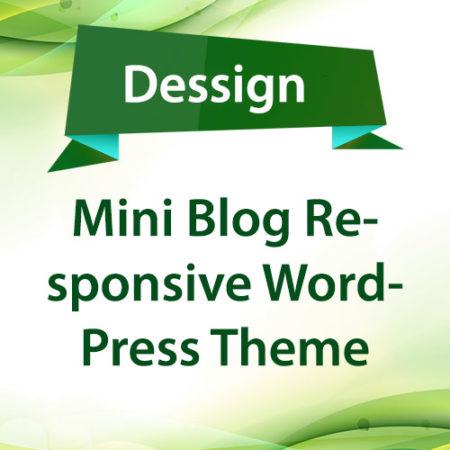 Dessign Mini Blog Responsive WordPress Theme