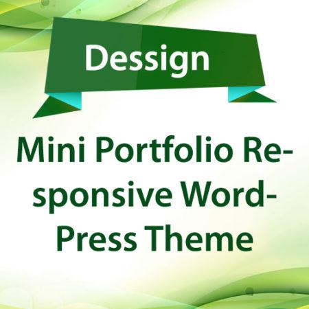 Dessign Mini Portfolio Responsive WordPress Theme