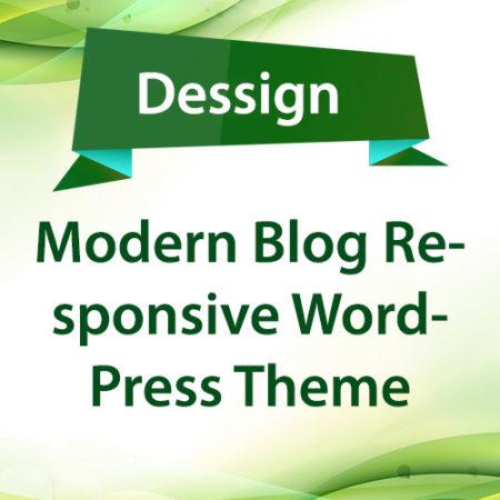 Dessign Modern Blog Responsive WordPress Theme