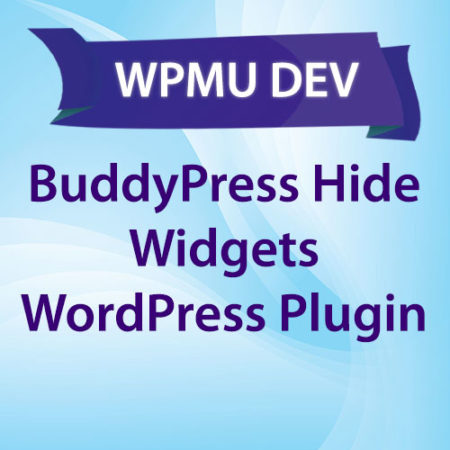 WPMU DEV BuddyPress Hide Widgets WordPress Plugin