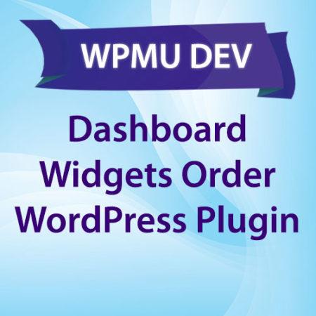 WPMU DEV Dashboard Widgets Order WordPress Plugin