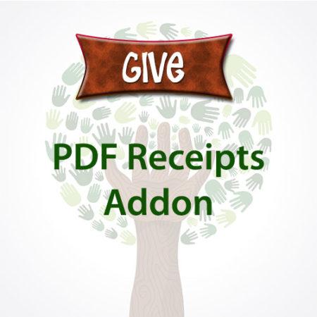 Give PDF Receipts Addon