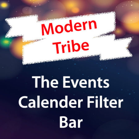Modern Tribe The Events Calender Filter Bar Addon