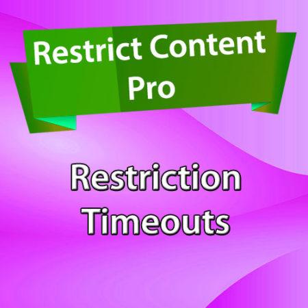 Restrict Content Pro Restriction Timeouts