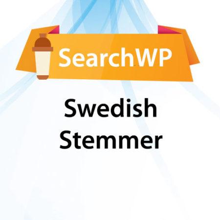 SearchWP Swedish Stemmer
