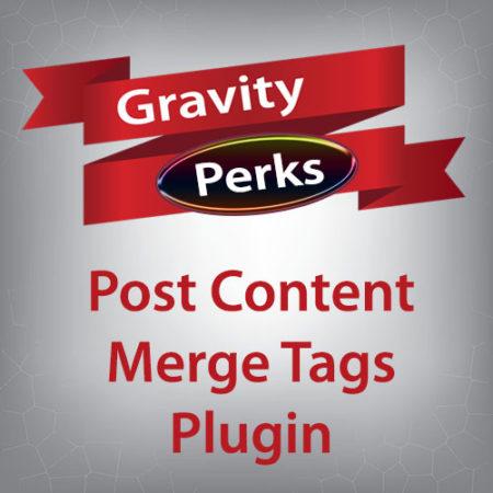 Gravity Perks Post Content Merge Tags Plugin