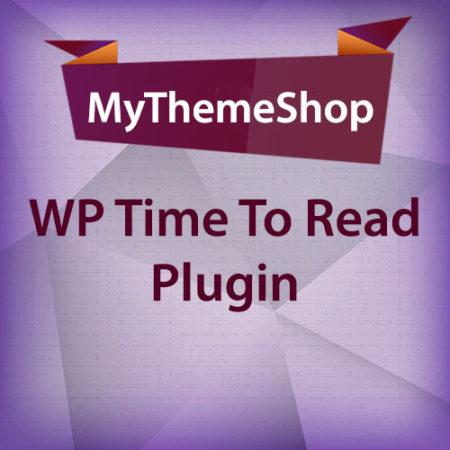 MyThemeShop WP Time To Read Plugin