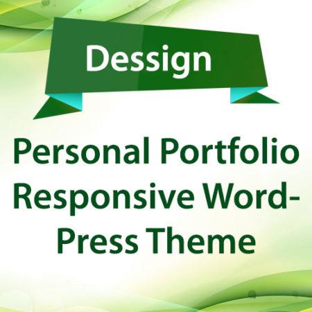 Dessign Personal Portfolio Responsive WordPress Theme