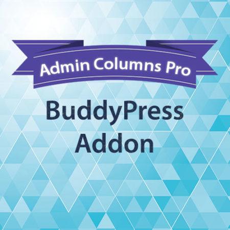 Admin Columns Pro BuddyPress Addon