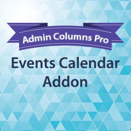 Admin Columns Pro Events Calendar Addon