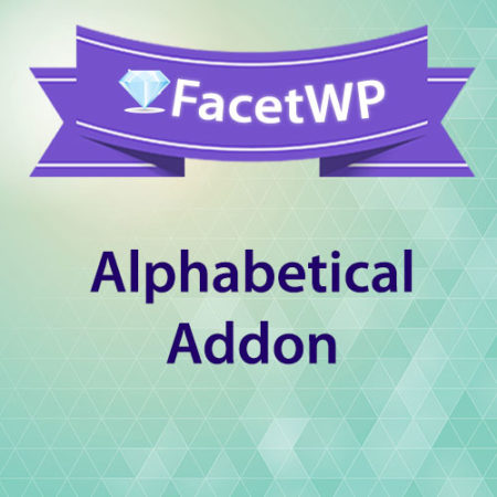 FacetWP Alphabetical Addon