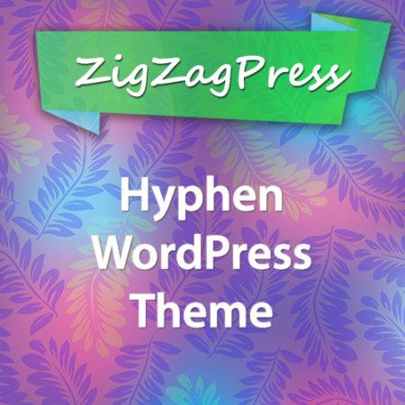 ZigZagPress Hyphen WordPress Theme