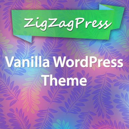 ZigZagPress Vanilla WordPress Theme