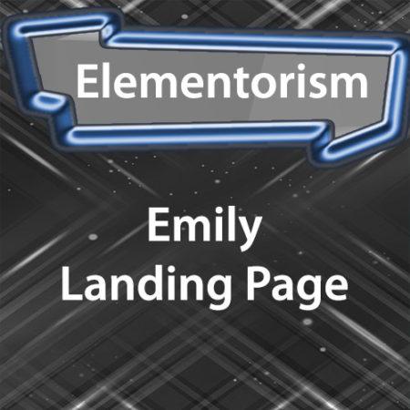 Elementorism Emily Landing Page