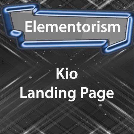 Elementorism Kio Landing Page