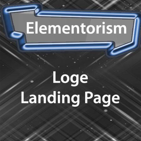 Elementorism Loge Landing Page