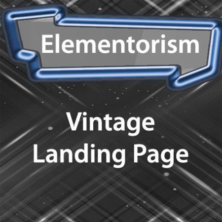 Elementorism Vintage Landing Page
