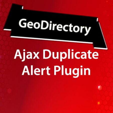 GeoDirectory Ajax Duplicate Alert Plugin
