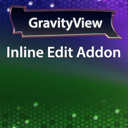 GravityView Inline Edit Addon