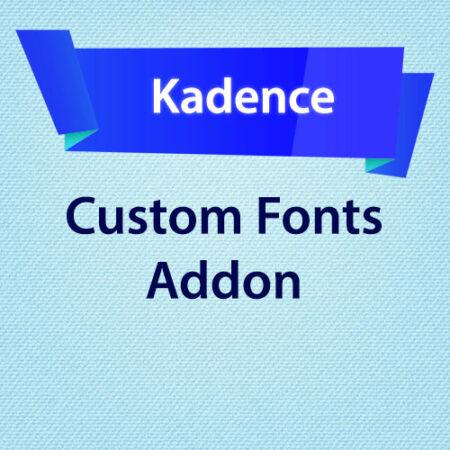 Kadence Custom Fonts Addon