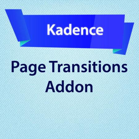 Kadence Page Transitions Addon