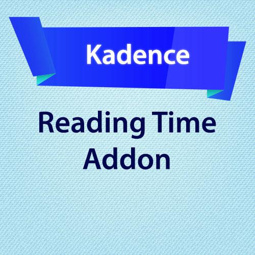Kadence Reading Time Addon